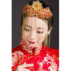 Chinese Bridal Style Fringe Phoenix Jewelry Hair Crown