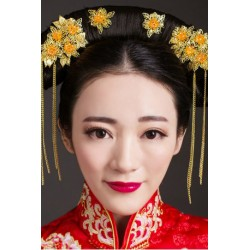 Chinese Bridal Style Golden Phoenix Hair Accessories