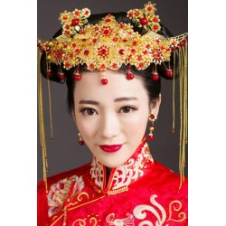 Chinese Bridal Retro Style (Hair Pieces + Earring)