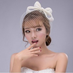 Korean Bridal sweet bow hair net and veil