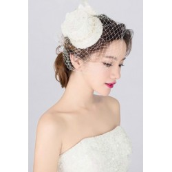 Korean Bridal small silk mesh hat (net & veil)