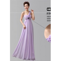 Chiffon Floor Length Dinner Dress Bridesmaid Dress B
