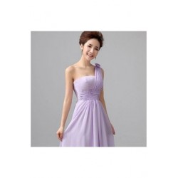 Chiffon Floor Length Dinner Dress Bridesmaid Dress E