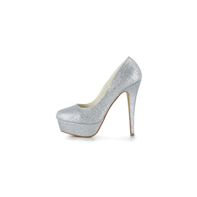 Glitter Platform Wedding Shoes