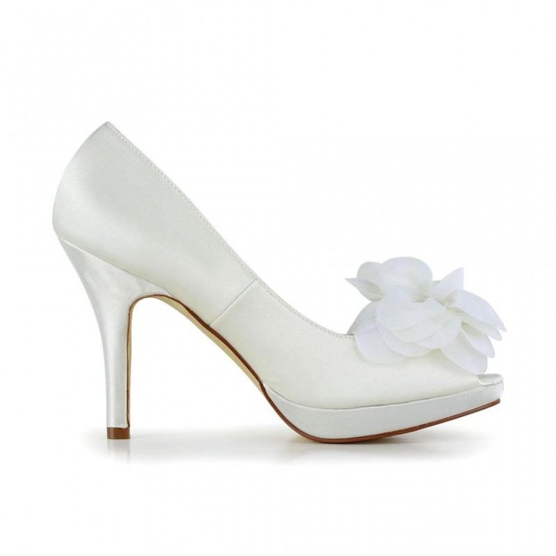 Flower Open Toe Wedding Shoes